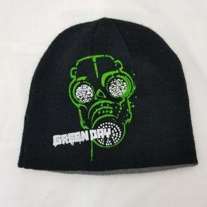 Green Day Knit Beanie Cap Hat Winter Reversible